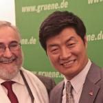 Tibetischer Premierminister Dr. Lobsang Sangay mit Wolfgang Grader in Berlin